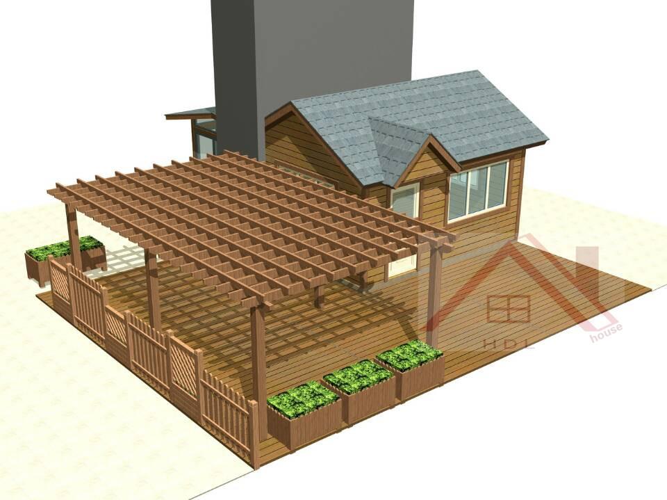 海德利木屋建设有限公司推出楼顶阳光房,设计快,施工简单,没有常规